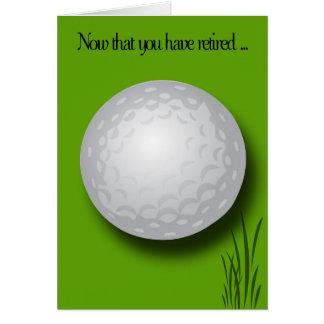 Cartes Boule de Félicitation-Golf de retraite