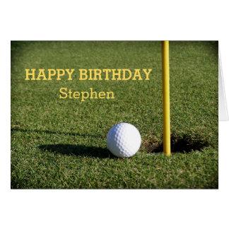Cartes Boule de golf sur la coutume verte d'anniversaire