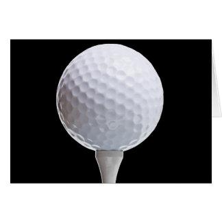 Cartes Boule et pièce en t de golf sur le noir - modèle