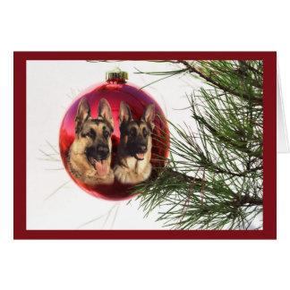 Cartes Boule Hanging3 de Noël de berger allemand