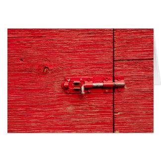 Cartes Boulon en bois rouge