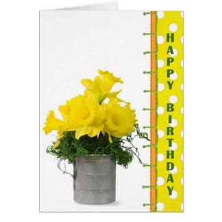 Cartes Bouquet d'anniversaire de jonquille