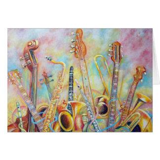 Cartes Bouquet de musique
