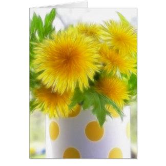 Cartes Bouquet de pissenlit de ressort