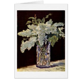 Cartes Bouquet encore lilas par Edouard Manet
