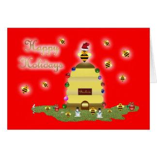 Cartes Bourdonnement de rucher d'abeille de miel