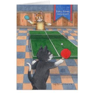 Cartes Bourgeon d'anniversaire de chats de ping-pong et