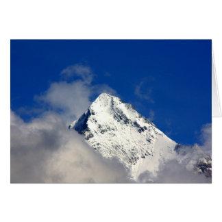 Cartes Bout de montagne couvert par neige
