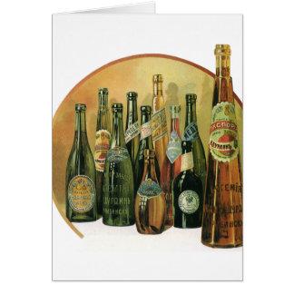 Cartes Bouteilles à bière importées par cru, alcool,