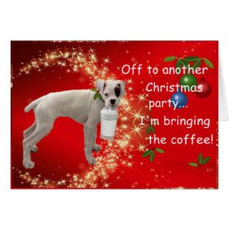 Cartes Boxeur avec Noël de café