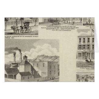 Cartes Brasserie de Paul Reising, nouvel Albany