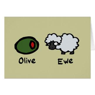 Cartes Brebis olive