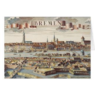 Cartes Brême, Allemagne, 1719