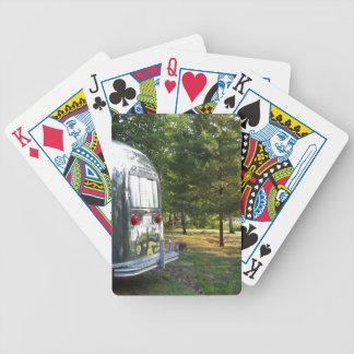 Cartes brillantes vintages de plate-forme de remor jeu de poker