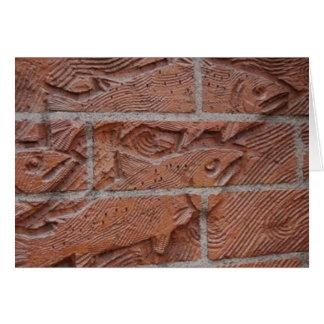 Cartes brique saumonée