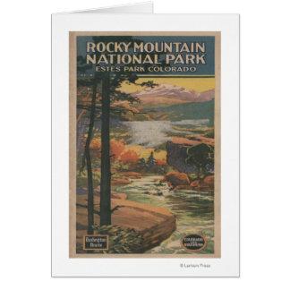 Cartes Brochure rocheuse de parc national de Mt. # 2