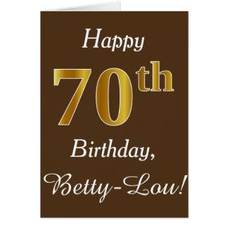 Cartes Brown, anniversaire d'or de Faux soixante-dixième