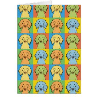 Cartes Bruit-Art de bande dessinée de chien de Saluki,