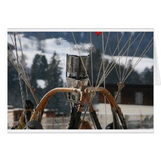 Cartes Brûleur chaud à ballon à air dans la neige