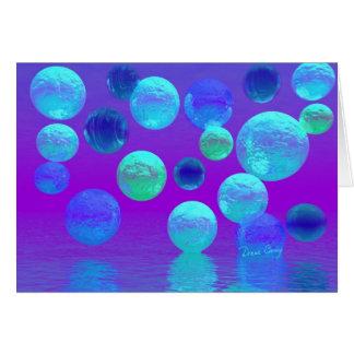Cartes Brume violette - lumière abstraite cyan et de