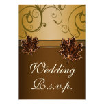 Cartes brun chocolat du mariage de automne RSVP d' Faire-parts