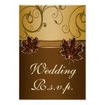 Cartes brun chocolat du mariage de automne RSVP Faire-parts