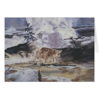 Cartes Buffalo de Yellowstone en hiver