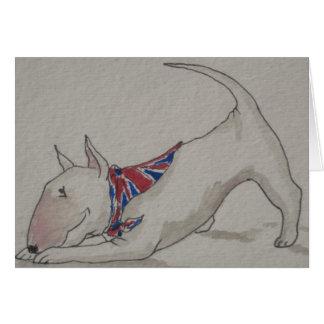 Cartes Bull-terrier anglais - maison bienvenue