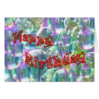 Cartes Bulles colorées de joyeux anniversaire
