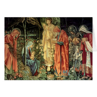 Cartes Burne-Jones, adoration des Magi