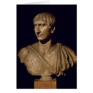 Cartes Buste de portrait d'empereur Trajan