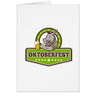 Cartes Buveur de bière d'âne Oktoberfest rétro