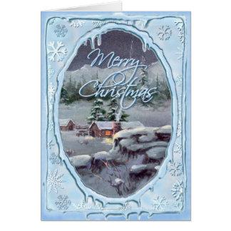 Cartes CABINE de RONDIN de JOYEUX NOËL par SHARON SHARPE