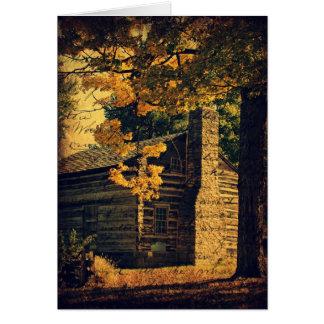 Cartes Cabine de rondin en automne