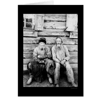 Cartes Cabine de rondin russe de paysans 1895