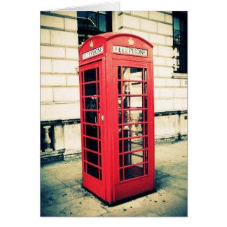 Cartes cabine téléphonique rouge