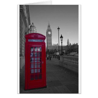 Cartes Cabine téléphonique rouge de Londres
