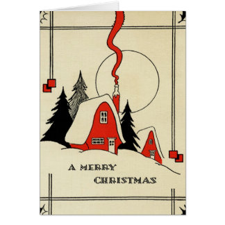 Cartes Cabine vintage de neige de Noël
