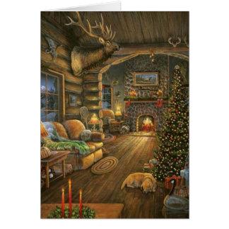Cartes Cabine vintage de Noël de pays