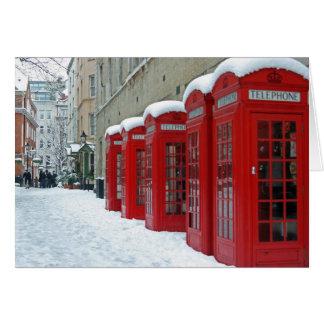 Cartes Cabines téléphoniques rouges