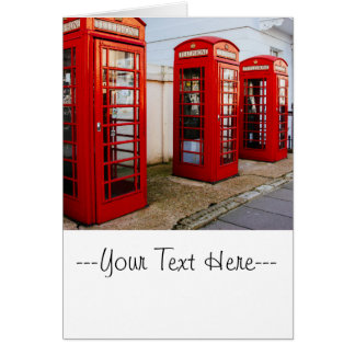 Cartes Cabines téléphoniques rouges de Londres,