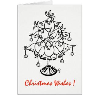 Cartes Cacatoès - souhaits de Noël