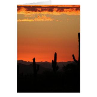Cartes Cactus de Saguaro au coucher du soleil