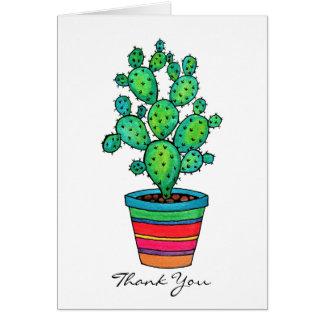 Cartes Cactus magnifique d'aquarelle dans le beau pot
