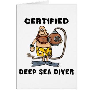 Cartes Cadeau certifié de plongeur de mer profonde