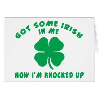 Cartes Cadeau de maternité enceinte irlandais drôle