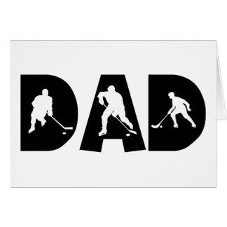 Cartes Cadeau de papa d'hockey