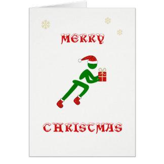 Cartes Cadeau de transport de coureur de Noël