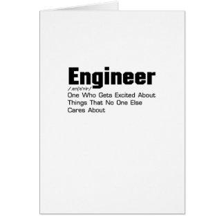 Cartes Cadeau drôle de définition d'ingénieur pour