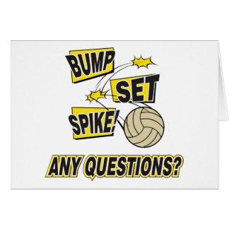 Cartes Cadeau réglé de volleyball de transitoire de bosse